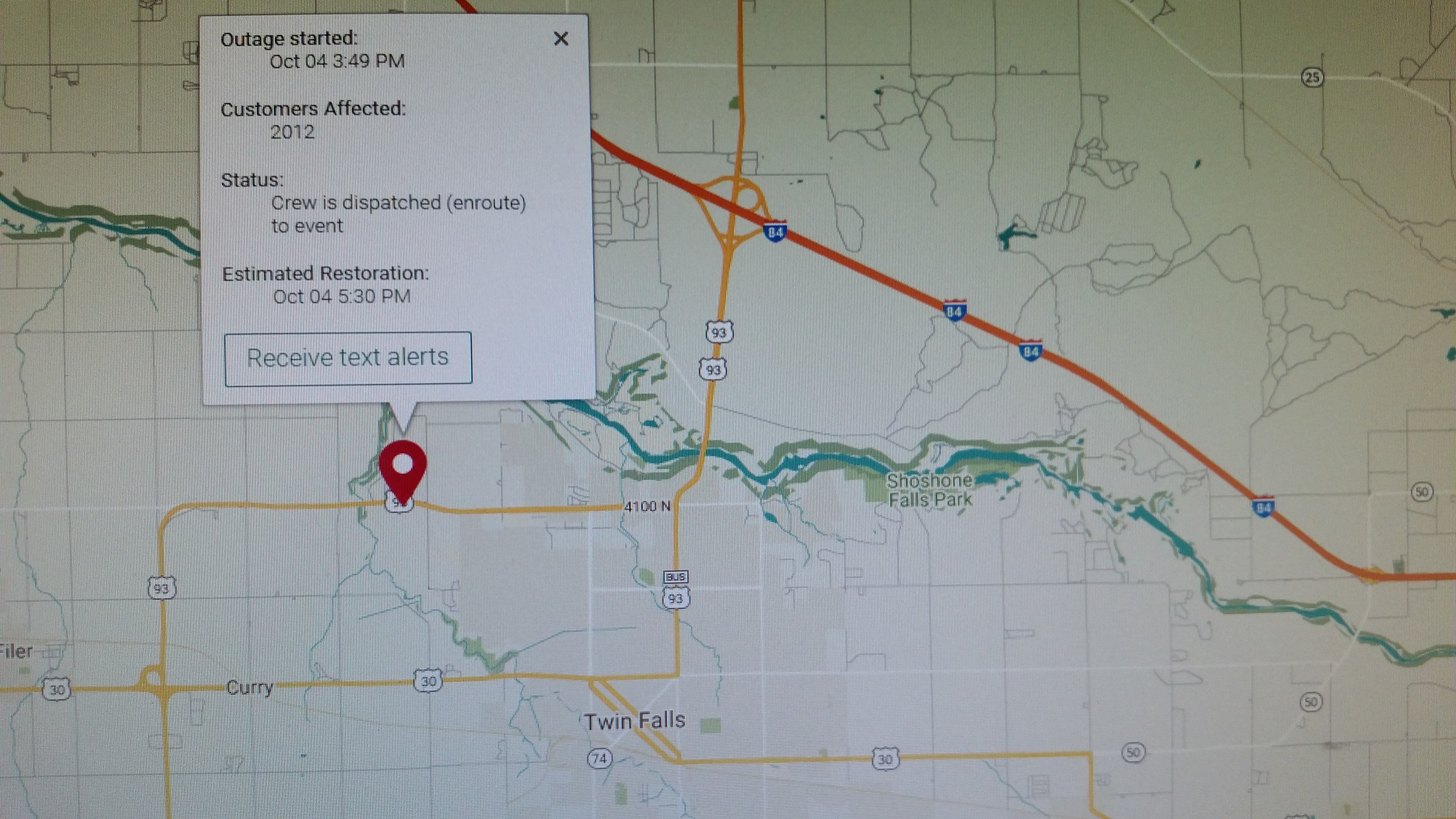 Power Outages Reported in Twin Falls, Filer, Hansen, Murtaugh