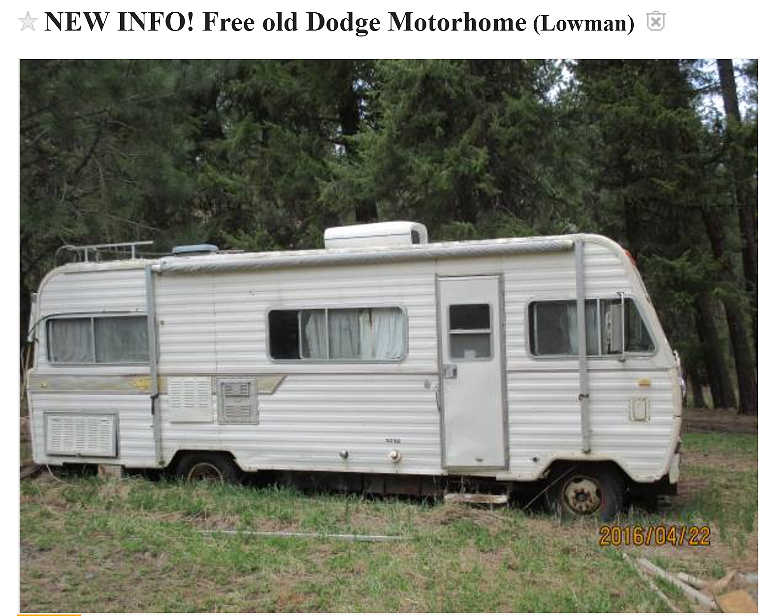 Yes, There's Another Free Mobile Home On Craigslist (PHOTOS) on how to stuff homes, how to get a mansion, home free homes, how to get on housing, how to get cars,