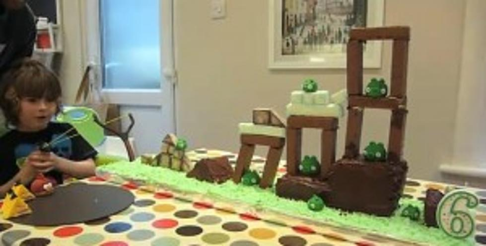 Terrific Angry Birds Now A Playable Interactive Birthday Cake Video Personalised Birthday Cards Veneteletsinfo