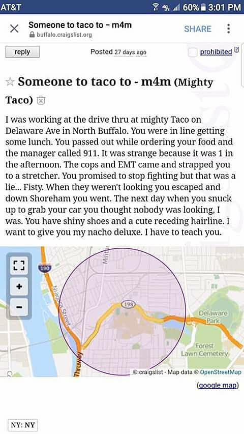 Hilarious Craigslist 'Missed Connection' at Mighty Taco in