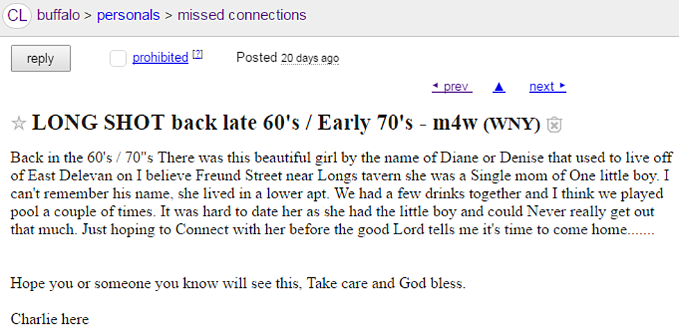 "Amherst Man Posts on Craigslist Looking For Woman ""Before"