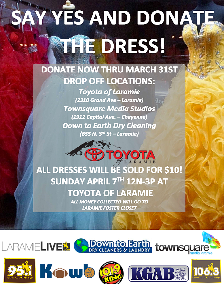 Toyota Of Laramie >> Say Yes And Donate The Dress