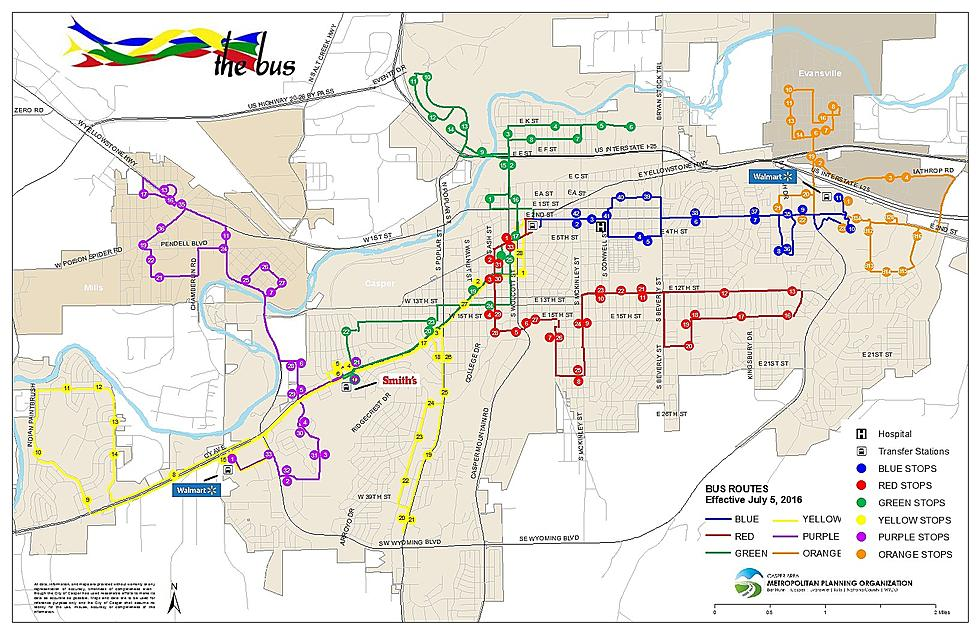 Casper Area Transportation Coalition Shows Bus Route Changes on