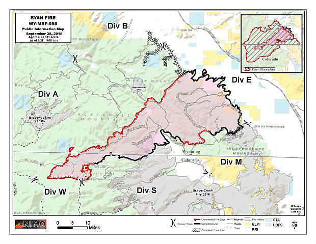 Forest Service: Ryan Fire In Southern Wyoming Is Human-Caused