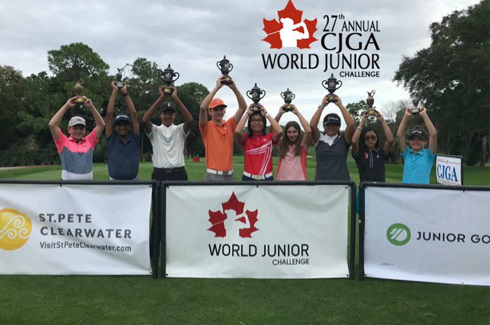 Casper Brothers Play in Canadian Junior Golf Tournament