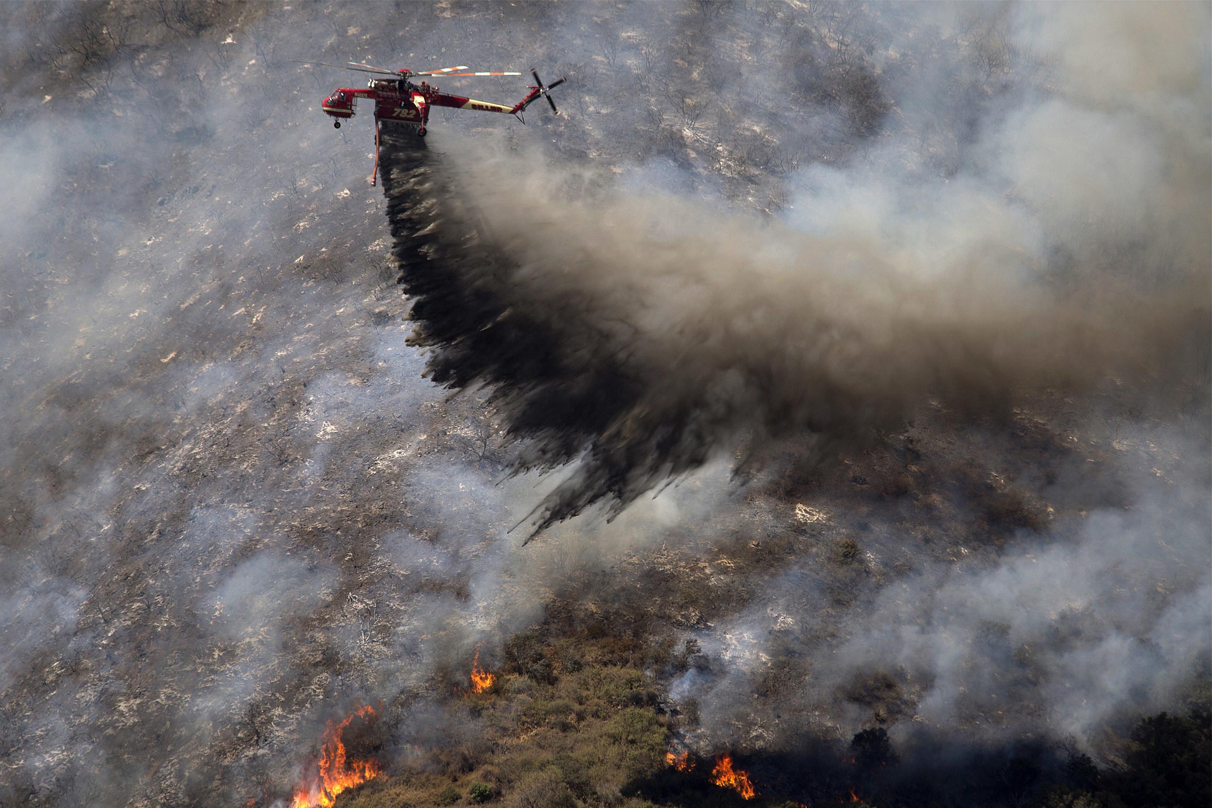 Fire Crews Make Big Gains Against Southern California Blaze