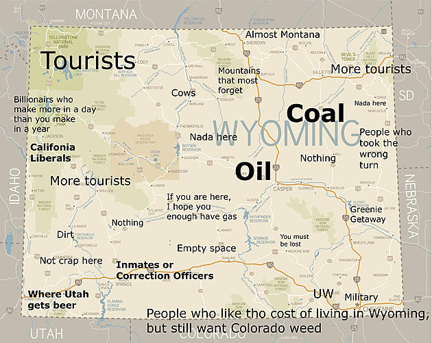These Judgmental Maps Of Wyoming Are Too Bad To Miss Photos