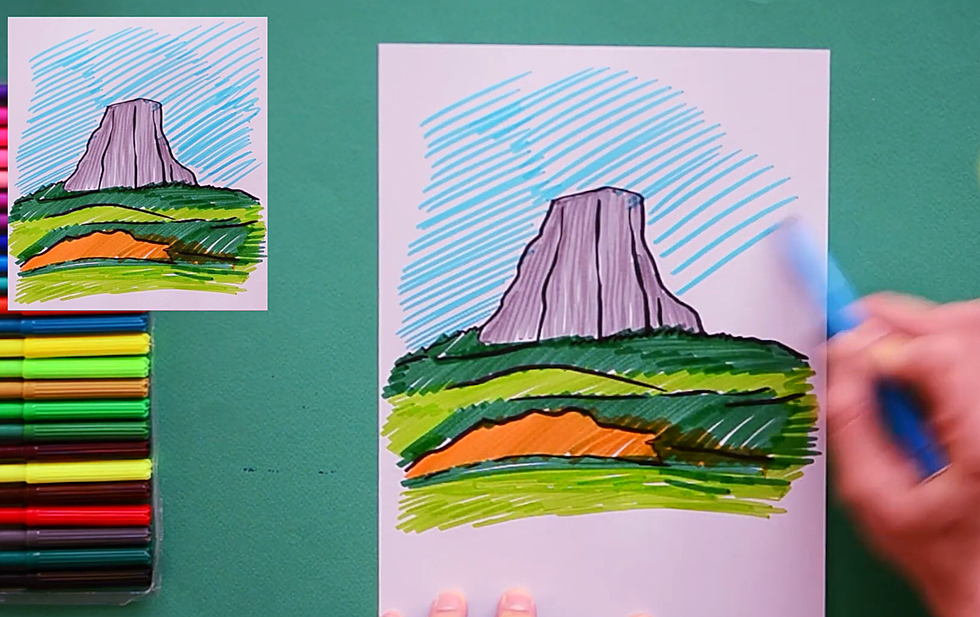 Let S Teach Your Wyoming Kids How To Draw The Devil S Tower