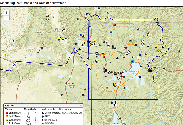 Over 120 Earthquakes at Yellowstone in 2019 Already (But Don't Wo Yellowstone Volcano Map Usgs on high resolution yellowstone map, nps yellowstone map, yellowstone national park wy to farmington new mexico map, yellowstone national park topo map, yellowstone np map,
