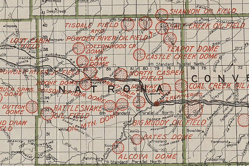 Check Out the Ultimate Old-School Wyoming Oil Field Map from 1917