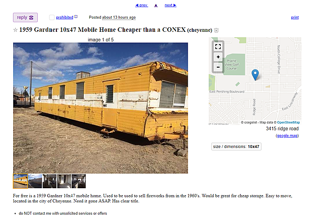 Wow Vintage 1959 Mobile Home Is Free On Wyoming Craigslist The for sale category list pretty much covers anything you. wow vintage 1959 mobile home is free