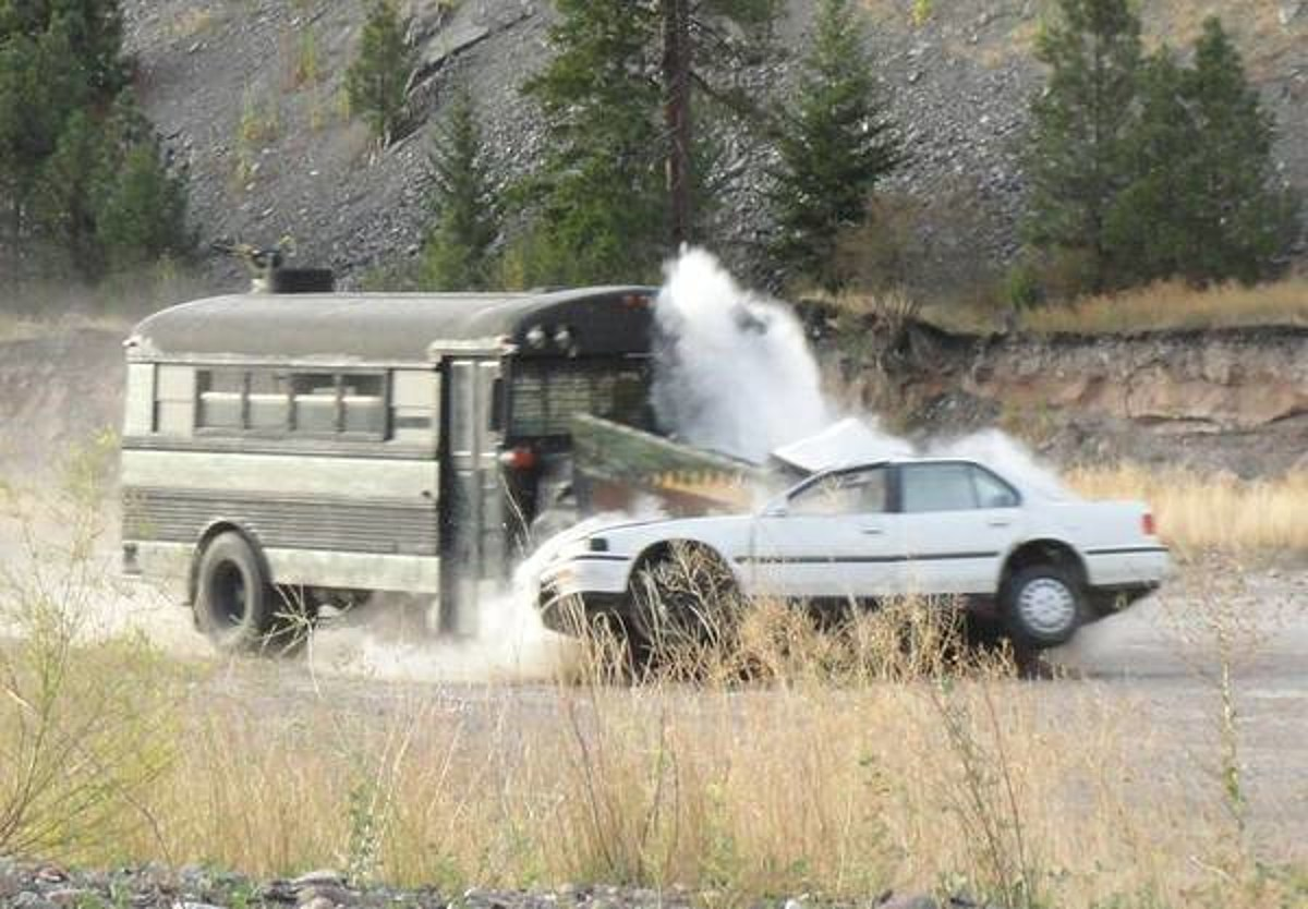 Missoula Man in Search of 'Your Old Car to Smash with My Bus'
