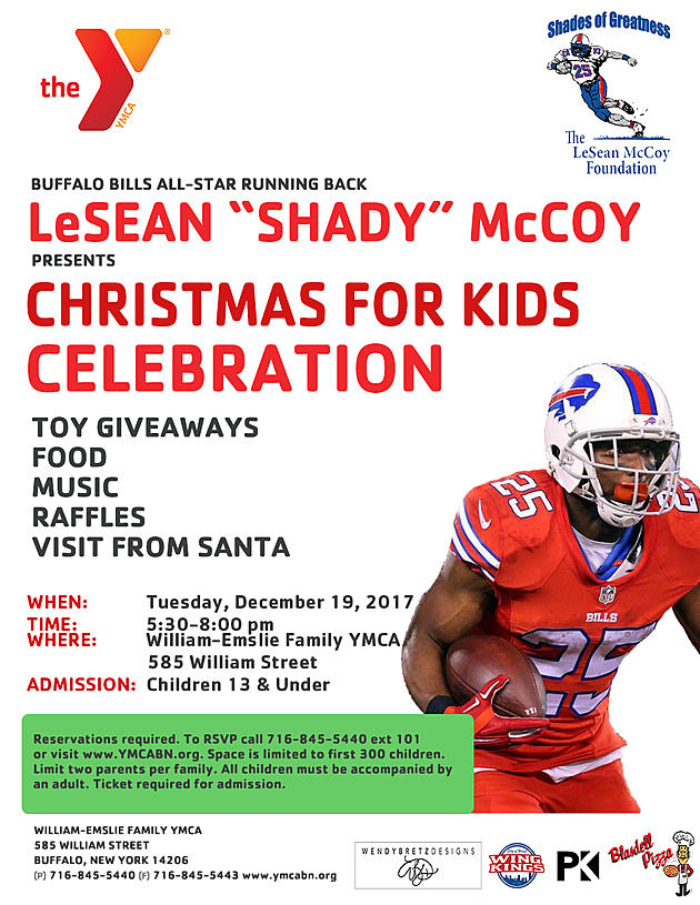 e1782d09b6f Buffalo Bills running back LeSean McCoy will provide gifts for the children  who attend the Christmas party! The party is this Tuesday