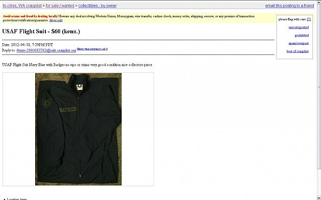 10 Strange Things For Sale in Tri-Cities on Craigslist