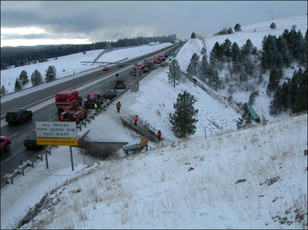 Icy Conditions on Highway I-84 Causes Tour Bus Crash, Killing 9