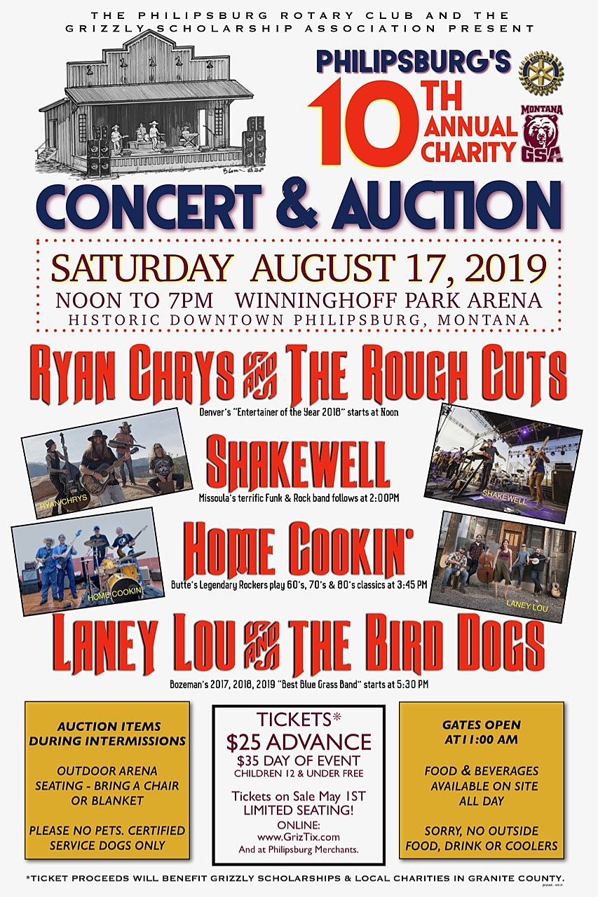 Philipsburg's 10th Annual Charity Concert and Auction