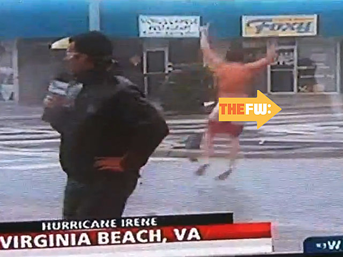 VIDEO Inevitable streaking of a weather reporter during