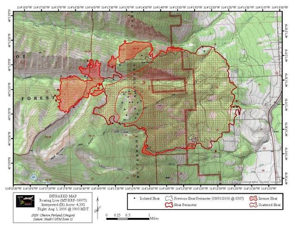 Roaring Lion Fire Map Roaring Lion Fire Now 4,400 Acres   Aug 2 Update [MAP]