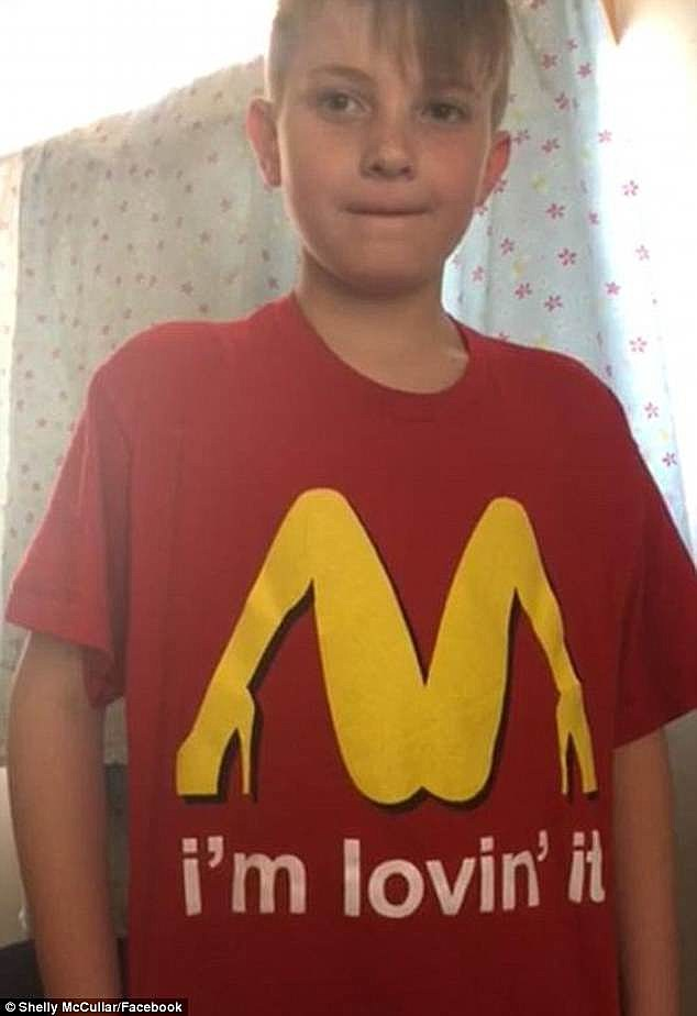 4fc1b67aeb Mom Thought Legs in High Heels was McDonald's Golden Arches Shirt