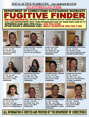 This Week's Fugitive Finder from Department of Corrections