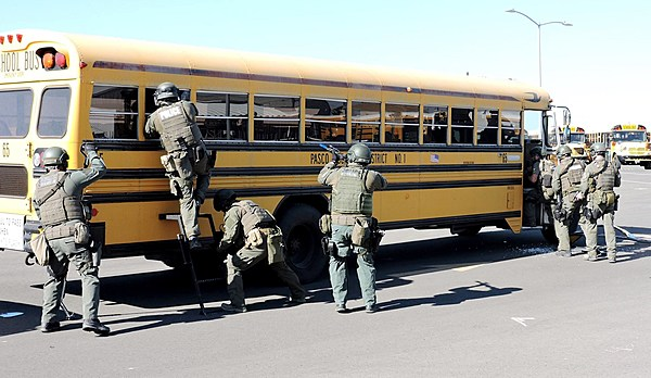 Pasco Police Practice School Bus Hostage Rescues