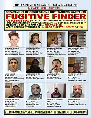 Friday's Fugitive Finder Features All Kinds of Folks