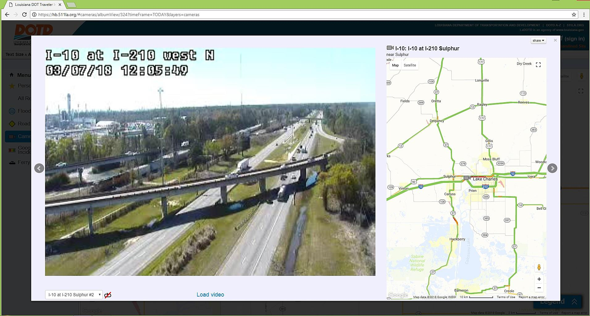 511la org Updates Site With More I-10/I-210 Traffic Cameras