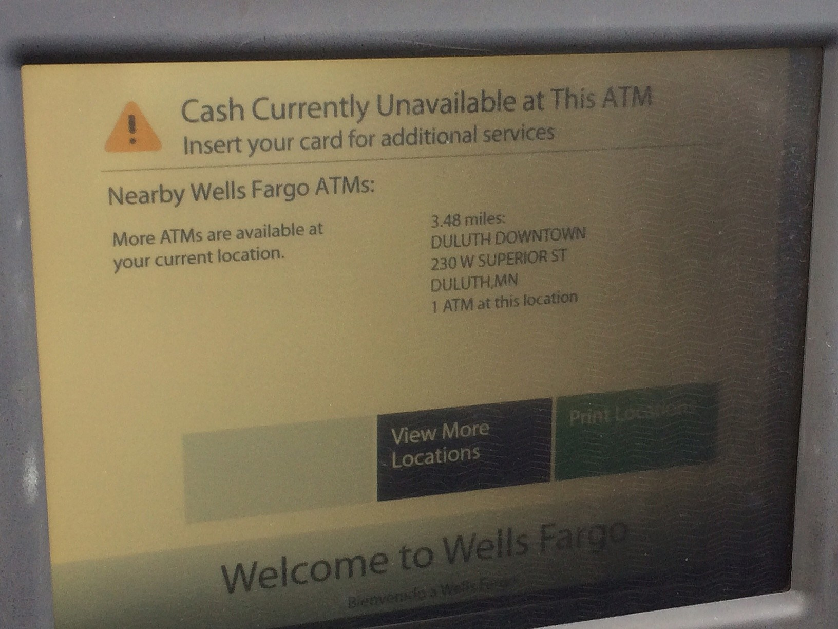 You Had One Job, Automated Teller Machine