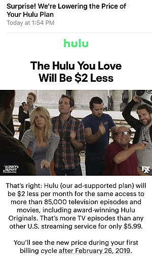 Hulu Dropping Price On One Subscription Tier, Raising Another