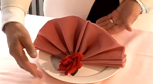 An Elegant And Easy Way To Fold Napkins For Your Thanksgiving Table Video