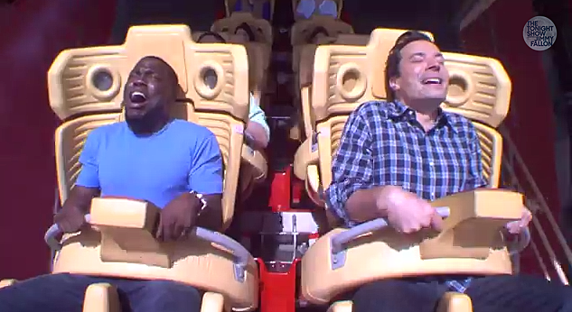 Daily Funny – Kevin Hart is Scared of Roller Coasters and it's Hilarious