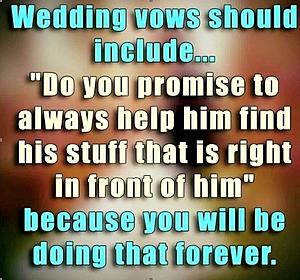 What Vows Should Have Been Added To Your Wedding Vows