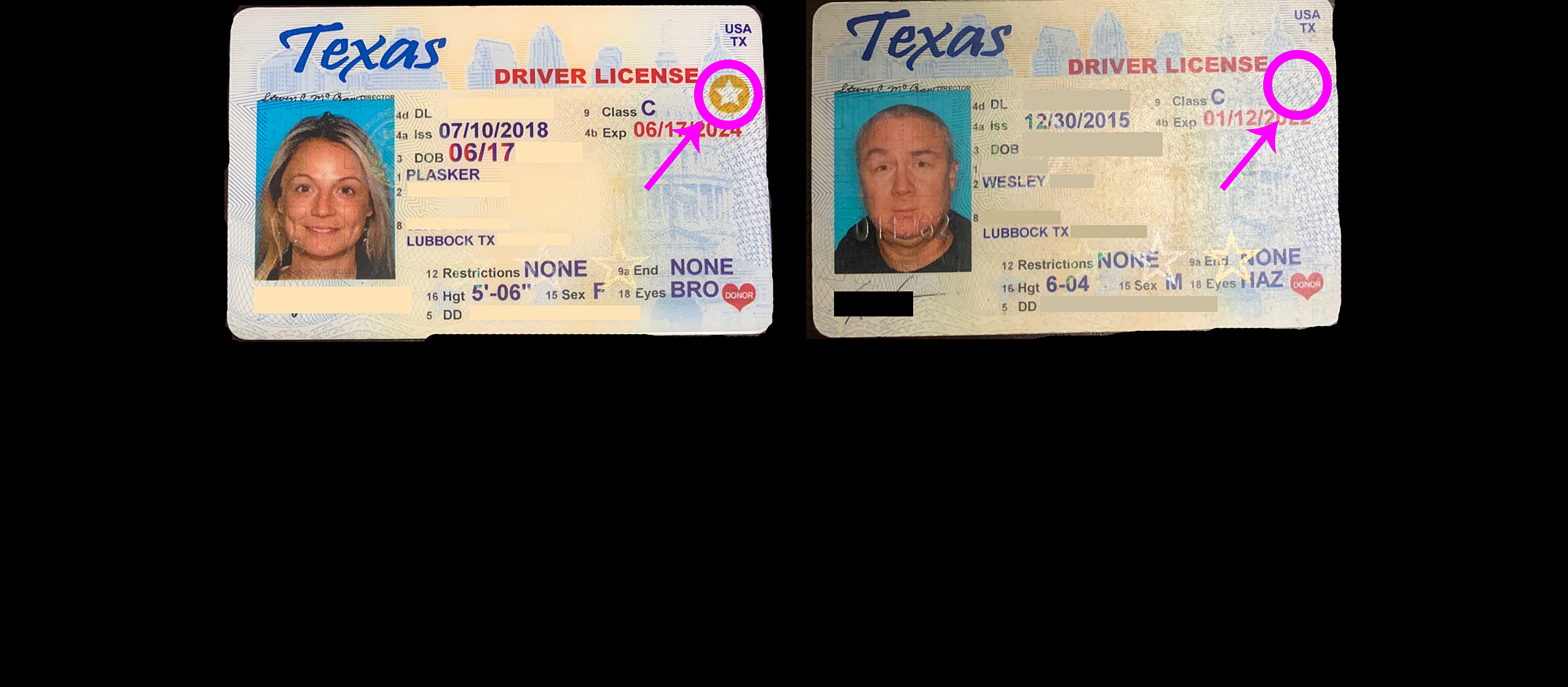 Don't Forget to Check Your Texas Driver's License for a Gold Star