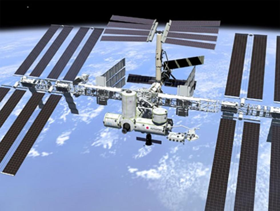 Space Station Visible Tonight