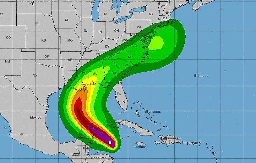 Zeta Forecast To Be Category 1 Hurricane At Landfall