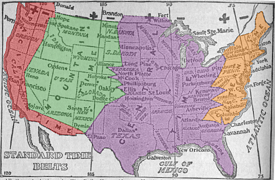 This 1913 Map Has Western New York In Two Different Time Zones