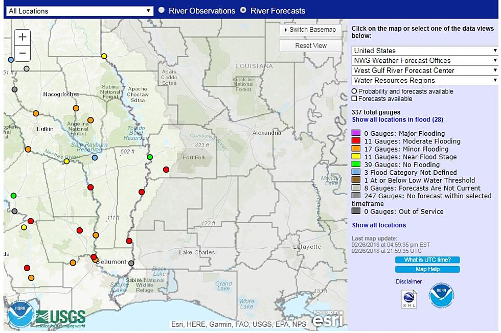 Moderate Flooding Along The Sabine on chattahoochee river map, wabash river map, united states river map, brazos river map, rio negro river on a map, ohio river map, guadalupe river map, bayou lafourche map, st. johns river map, calcasieu river map, colorado river map, dallas river map, trinity river map, pecos river map, galveston bay river map, tennessee river map, san joaquin river on a map, james river map, arkansas river map, willamette river map,