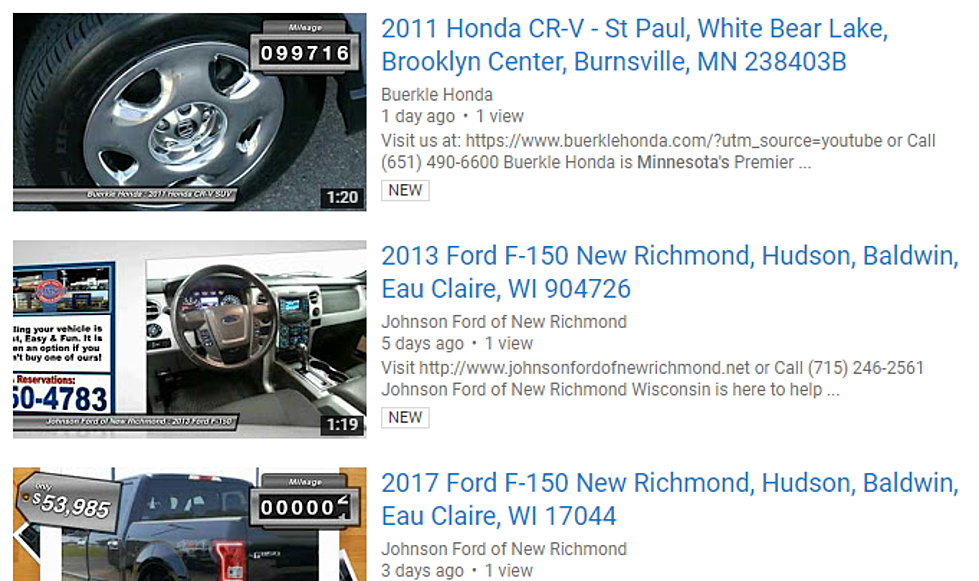 Eau Claire Car Dealers >> Dear Car Dealers And Realtors Please Stop Spamming Youtube