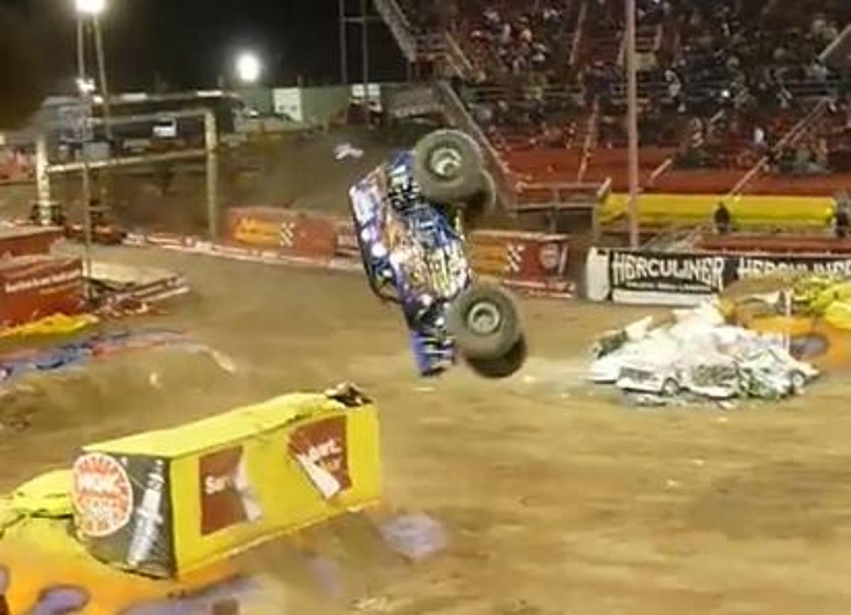 Monster Truck Driver Successfully Lands Backflip in Vegas ...