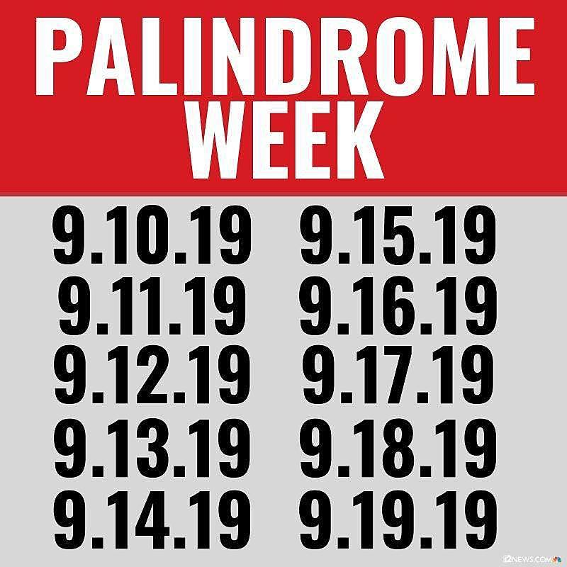 Wow Our Dates Are Palindromes All Week