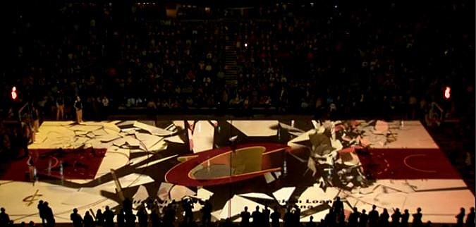 Cleveland Cavaliers Amazing 3d Floor Projection System