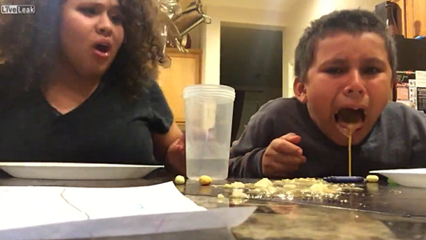 kid eats skunk spray candy  blows chunks all over  video