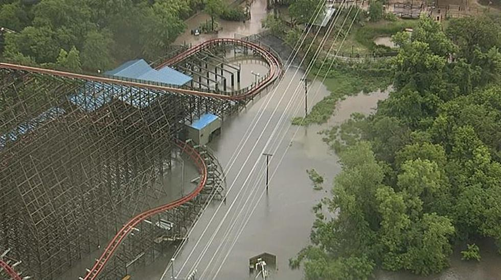 Heavy Rains Cause Flash Flooding in DFW, Six Flags Over
