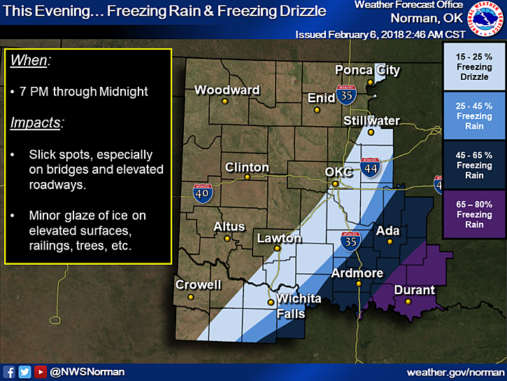 Map Of North Texas And Oklahoma.Winter Weather Advisory In Parts Of North Texas And Oklahoma