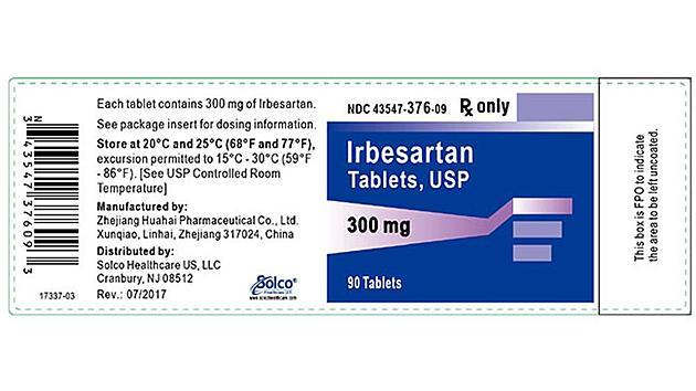 Major Blood Pressure Medication Recall