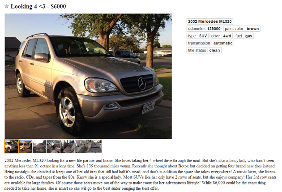 Amarillo Mercedes Craigslist Ad Just Quirky Enough To Work