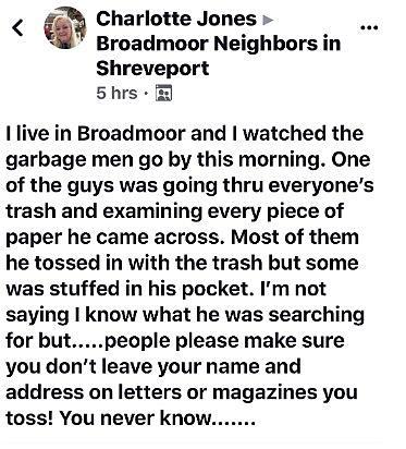 Sanitation Worker Accused of Going Through Trash in Shreveport