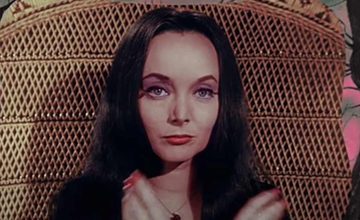 On light eyes addams morticia family Wednesday Addams