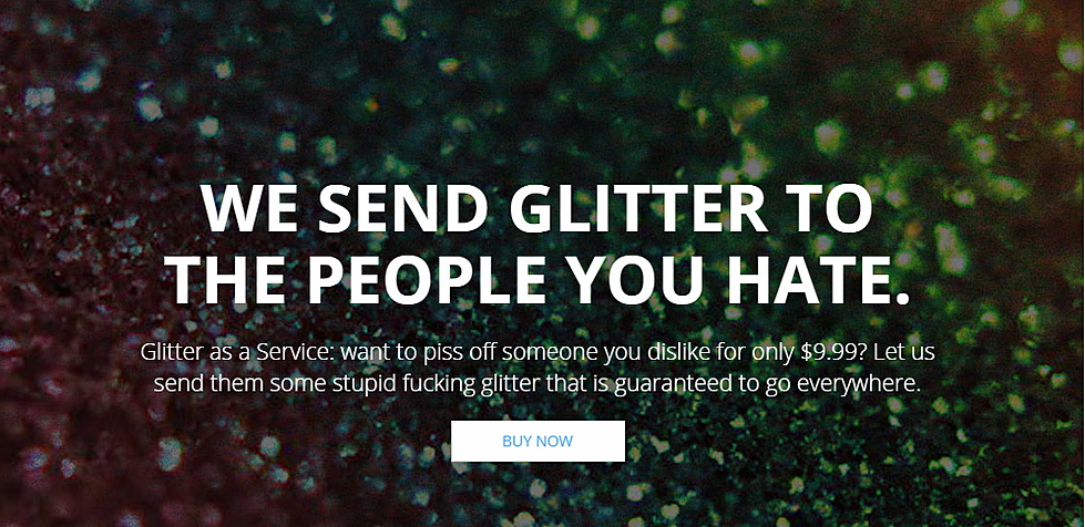 Send a Glitter Bomb to your enemies for $9 99