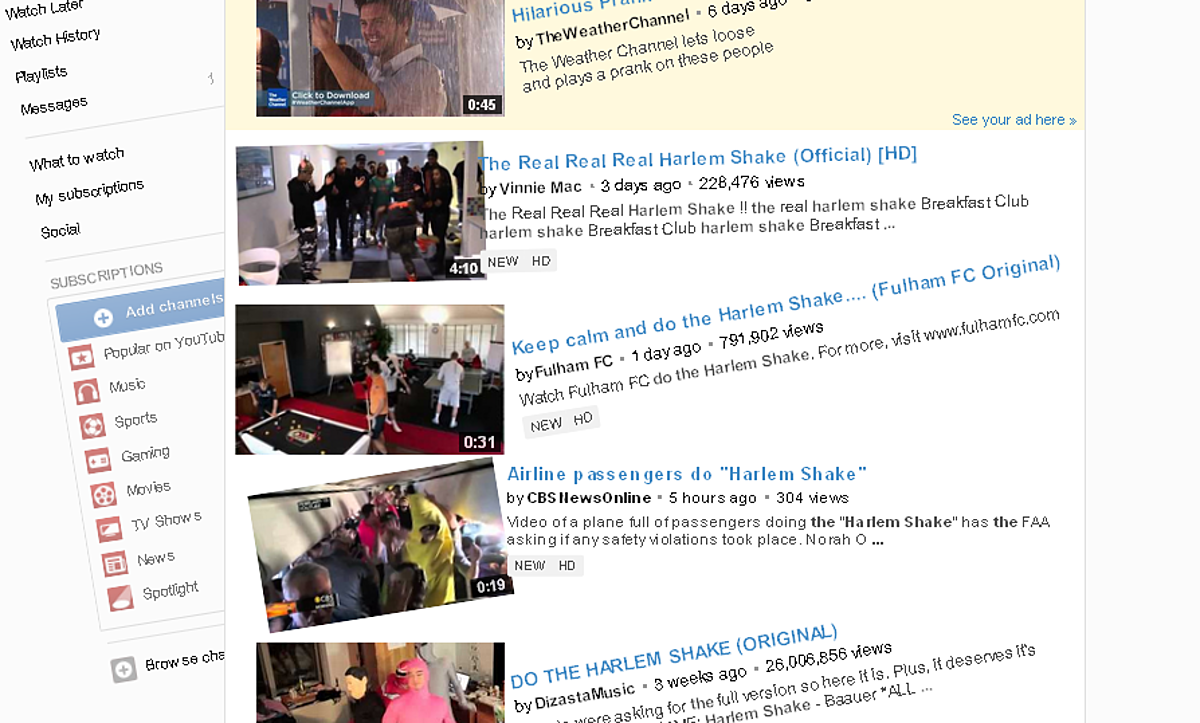 YouTube Does 'The Harlem Shake' [VIDEO]